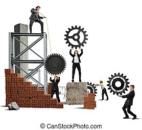 teamwork, od, businesspeople