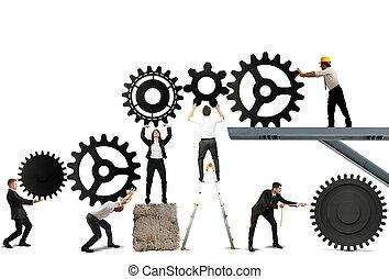 Teamwork of businesspeople - Teamwork works together to...