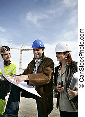 Teamwork on a building site