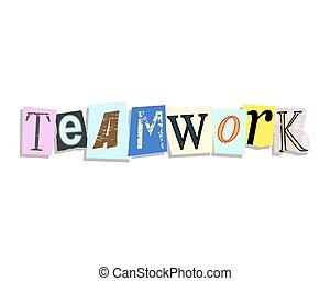 Teamwork Paper Letters