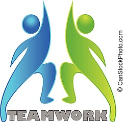 Teamwork partner collaboration vector