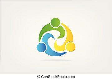 Teamwork partners icon logo