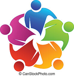 Teamwork partners logo - Teamwork partners concept vector...