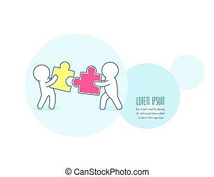 Teamwork, partnership and development concept. Horizontal ...