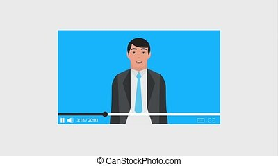 teamwork people animation hd - businessman website video...