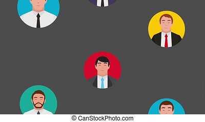teamwork people animation hd - businessmen group teamwork in...
