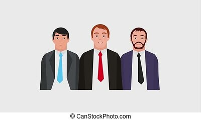 teamwork people animation hd - businessmen team group...