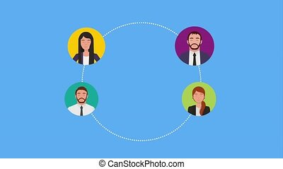 teamwork people animation hd - teamwork group business...