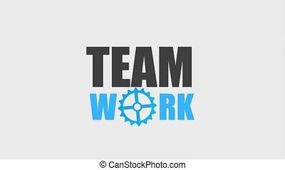 teamwork people animation hd - teamwork lettering in motion...