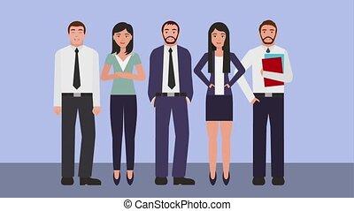 teamwork people animation hd - teamwork people business...