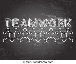 Teamwork People Blackboard