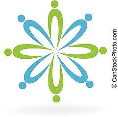 Teamwork people business logo