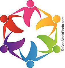 Teamwork people business logo