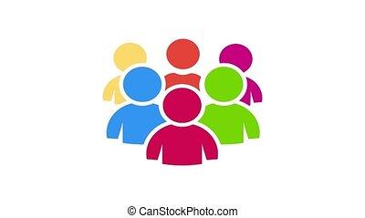 Teamwork people community. Video Animation - Teamwork people...