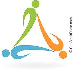 Teamwork people ecology logo