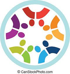 Teamwork people logo