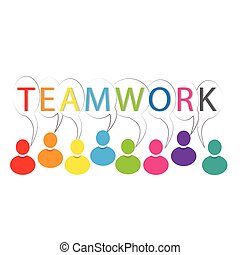 Teamwork people logo