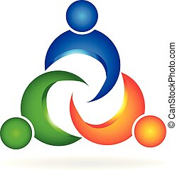 Teamwork people unity logo