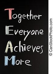 teamwork, pojęcie, tablica