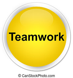 Teamwork premium yellow round button