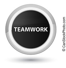 Teamwork prime black round button
