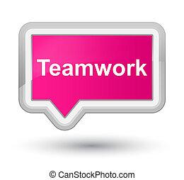 Teamwork prime pink banner button