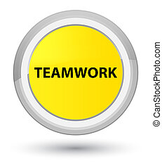 Teamwork prime yellow round button