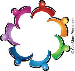 Teamwork protective people logo - Teamwork protective people...