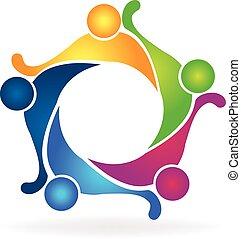 teamwork, przyjaźń, logo