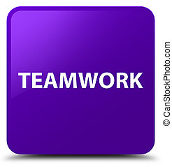 Teamwork purple square button