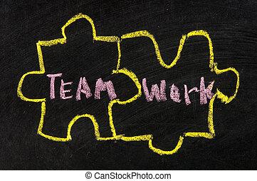 teamwork puzzle concept