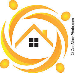 Teamwork real estate logo