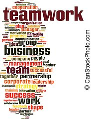 teamwork, słowo, chmura