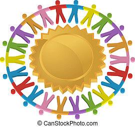Teamwork Shield Icon