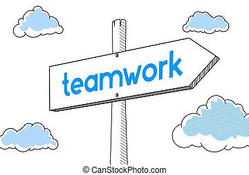 Teamwork - signpost