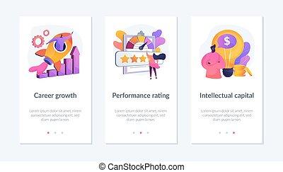 Teamwork skills app interface template. - Success ...