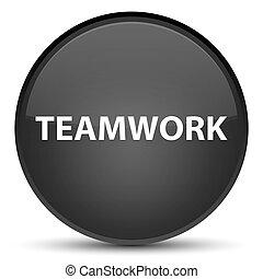 Teamwork special black round button