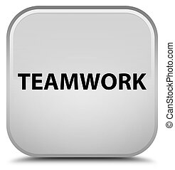Teamwork special white square button