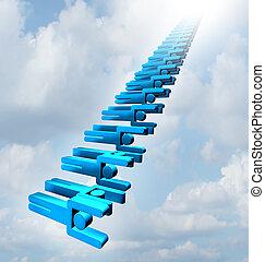 Teamwork Staircase