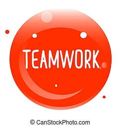 TEAMWORK stamp isolated on white