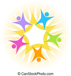 Teamwork Star isolated on a white background image.