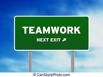 Teamwork Street Sign - High resolution graphic of a Teamwork...