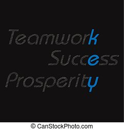 Teamwork, success, and prosperity text inspiration concept words