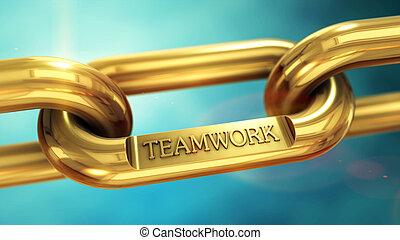 Teamwork symbol background concept