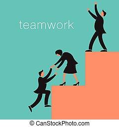 teamwork, tło, twórczy