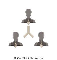 Teamwork team concept business vector icon illustration people success design