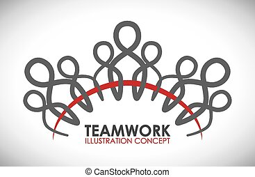 teamwork - team work design, vector illustration eps10 ...