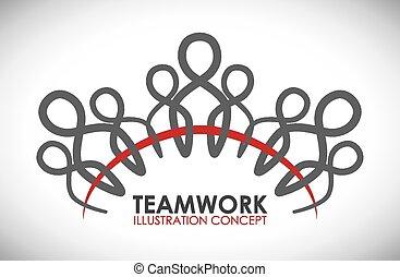 teamwork - team work design, vector illustration eps10 ...