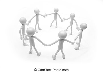Teamwork, togetherness - Teamwork concept. Three human...