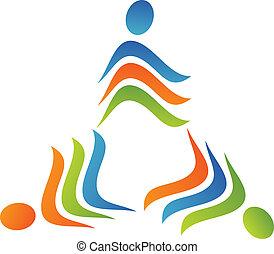 Teamwork triangle logo